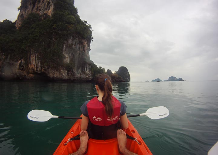 Kayaking around Railay