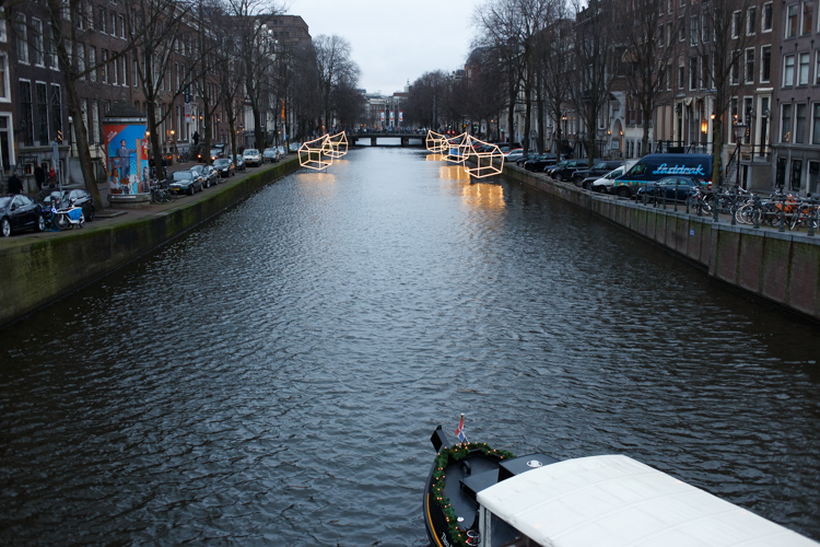 Amsterdam Canals during Christmas