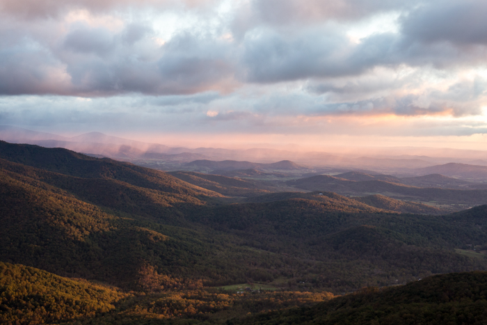 Morning colors at Old Rag Mountain